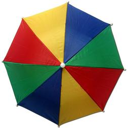 Large Golf Rainbow Umbrella Strong 16 Ribs Windproof Wooden