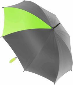 Nautica Large Grey Golf Umbrella - Sturdy Rainy Day & Sun Pr