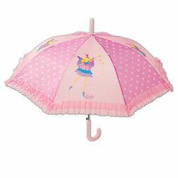 Large Pink Polka Dot Fairy Kids Girls Umbrella Brolly - Rain