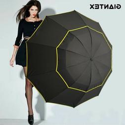 Large Pongee Golf Umbrella Female Windproof Folding Umbrella