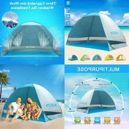 G4Free Large Pop up Beach Tent Automatic Sun Shelter Outdoor