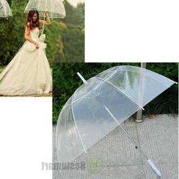 Large Transparent Clear Dome See Through Umbrella W White Ha