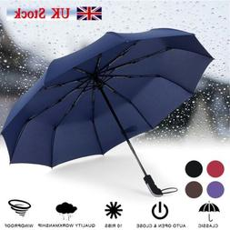 Large Umbrella Automatic Folding Windproof Strong Travel Win