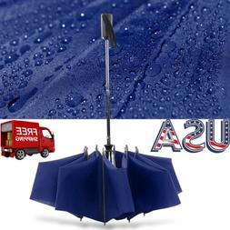 Large Umbrella Automatic Inverted Reverse Foldable 3 Folding