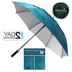 Large Umbrella Windproof Vented Golf 68 Inch Uv Protection D