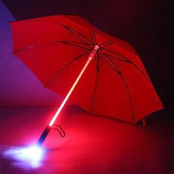 LED Light Up Star War Transparent Umbrella Colorful Blade Ru