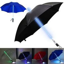 LED Star War Transparent Umbrella Light Up Colorful Blade Ru