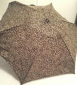 Shedrain Leopard Animal Print Umbrella NWT