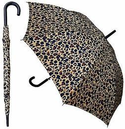 "48"" Leopard Print Auto-Open Umbrella - RainStoppers Rain/Sun"