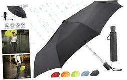 Lewis N. Clark Travel Umbrella: Windproof & Water Repellent