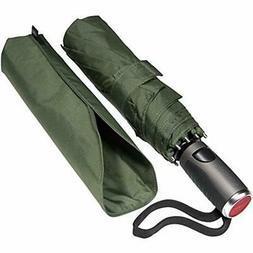 LifeTek Windproof Folding Umbrellas Travel Compact Vented Te