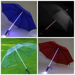 Lightsaber Umbrella LED Light up Golf Umbrellas 6 Color Chan