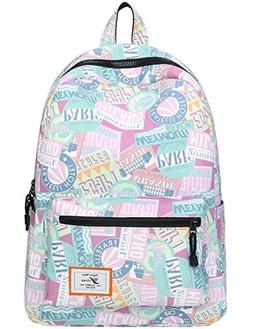 Mygreen Lightweight Canvas Backpack for Women, Teens and Kid