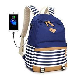 Abshoo Lightweight Canvas Backpacks for Girls School Rucksac