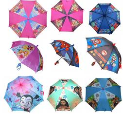 Little Girls Boys Cartoon Rain Sun Umbrella Kids Children Cu