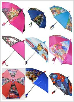 Little Girls Boys School Cartoon Rain Sun Umbrella Kids Chil