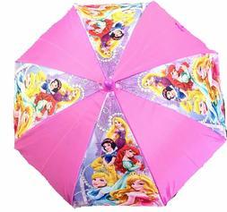 Disney Little Girls Princess Umbrella Cute Pink Purple Schoo