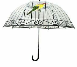 Long-handle Hanging Transparent Adult Female Umbrellas Bird