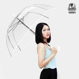 Long Handle Transparent Fashion Umbrella Men Women Automatic