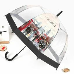 Long Umbrella for Women Lady London Picture European Style T
