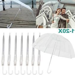 Lot Fashion Transparent Umbrella Automatic Parasol Dome For