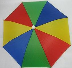 Lot of 1,4, 12--Muli Color Umbrella Hat Cap Rain  Sun Protec