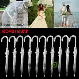 Lot Transparent Clear Automatic Umbrella Parasol for Wedding