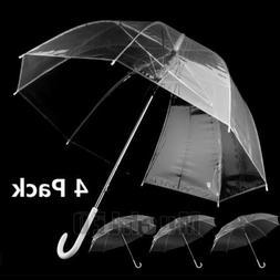 Lots Auto Open Transparent Clear Automatic Umbrella Parasol