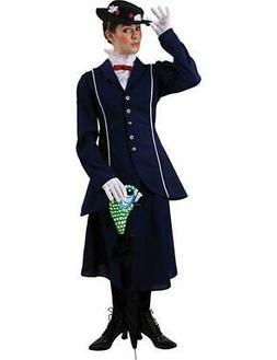 Magical Nanny Adult Costume w/ Parrot Head Umbrella Cover -