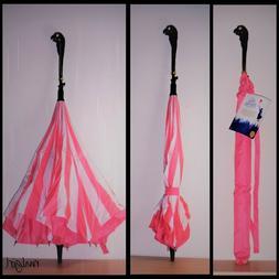 Disney Mary Poppins Returns Pink Stripe Inverted Parrot Umbr