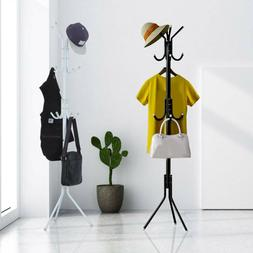 Metal Organizer Coat Rack Hat Bag Stand Tree Clothes Umbrell