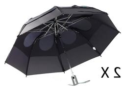 """Gustbuster Metro Dual Canopy Collapsible Windproof 43"""" Umbre"""
