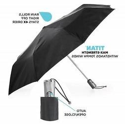 totes Titan Auto Open Close Umbrella Folding Windproof & Wat