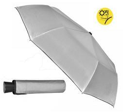 Mini Compact Folding Silver back Rain and Sun Shade Umbrella