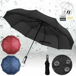 Mini Compact Umbrella Automatic Folding Windproof Strong Tra