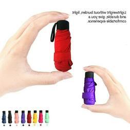 Mini Light Pocket Umbrellas Anti-UV 5 Folding Compact Umbrel