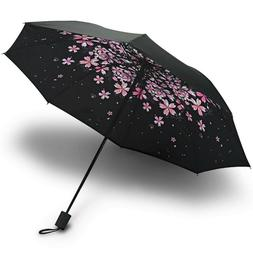 Mini Lightweight Folding Compact Umbrellas - Cherry Blossoms