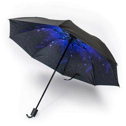 Mini Lightweight Folding Compact Umbrellas - Stars / Galaxy
