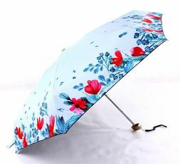 Mini Pocket Floral Umbrellas for Girls Ultra Light 190g UV S
