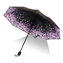 Mini Travel Sun&Rain Umbrella Light Compact Parasol with UV