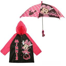 Disney Minnie Mouse Slicker and Umbrella Rainwear Set, Littl