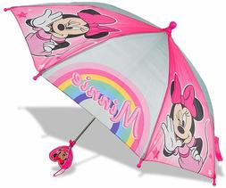 Disney Minnie Mouse Umbrella Rain Red School Kids Girls Todd