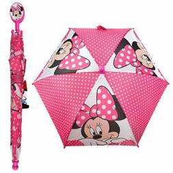 minnie mouse umbrella rain pink bow school