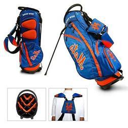MLB New York Mets Fairway Stand Golf Bag, Orange