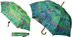 "48"" Monet Secret Garden Auto-Open Umbrella -RainStoppers Rai"