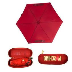 MOSCHINO compact super mini umbrella for handbag red with ca