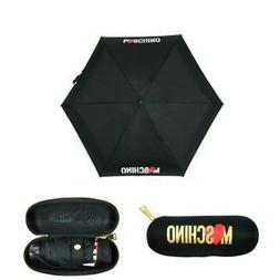 MOSCHINO compact super mini umbrella for handbag black with