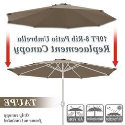 Multi-color 10' Patio Umbrella 8 Ribs Cover Canopy Replaceme