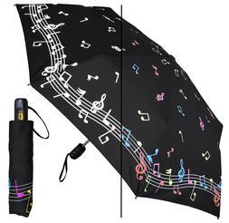 "42"" Music Auto-Auto Mini Umbrella - RainStoppers Rain/Sun UV"