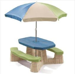 Step2 Naturally Playful Kids Picnic Table With 60 Inch Umbre